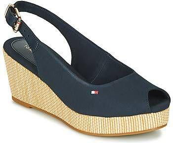 Tommy Hilfiger Iconic Elba slingback sandalettes donkerblauw online kopen