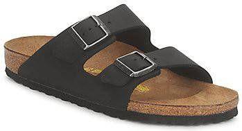 Birkenstock Slipper arizona leather black oiled-schoenmaat 38 online kopen