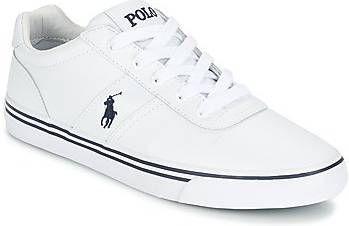 Polo Ralph Lauren Leren hanford sneakers in wit met spelerslogo online kopen