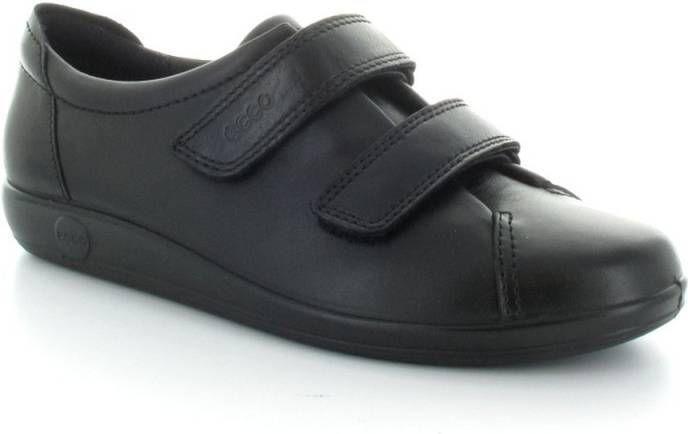 Ecco Soft Zwarte Schoenen met Klittenband