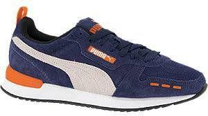 Puma R78 suede sneakers donkerblauw/lichtgrijs/oranje online kopen