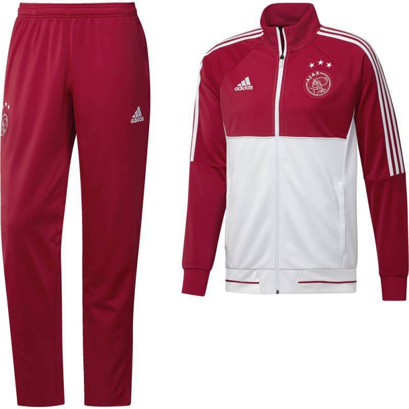 Adidas Ajax Trainingspak 2017 2018 Bold Red White