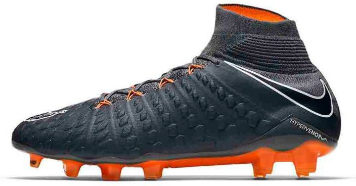 quality design fb6d2 2b760 Nike Hypervenom Phantom 3 Elite Dynamic Fit FG Dark Grey Total Orange