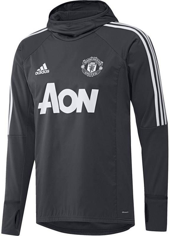 Adidas Manchester United Trainingstrui Climawarm 2017 2018 Top Night Grey White