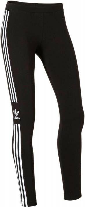 Adidas Originals 3 Stripes Trefoil Leggings Dames Zwart Dames