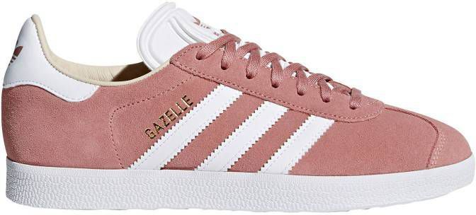 Adidas originals Gazelle sneakers oudroze/wit