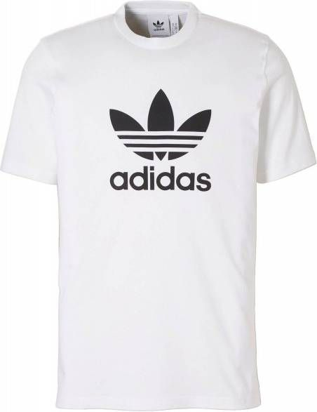 Adidas Originals Adicolor Oversized T shirt met trefoil logo in wit