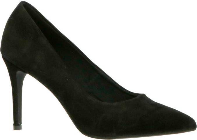 BIANCO Suède Middelhoge Hak Stiletto Dames Zwart online kopen