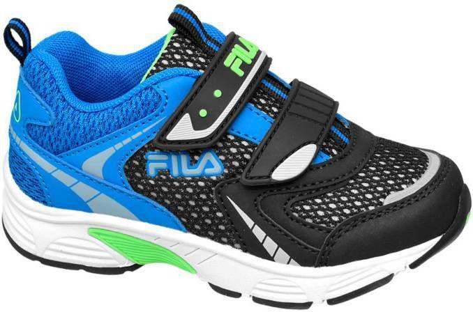 Zwarte sneaker groene details Fila maat 26 Frontrunner.nl