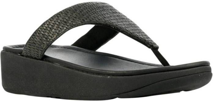 FitFlop TM Imogen Toe Weave teenslippers zwart online kopen
