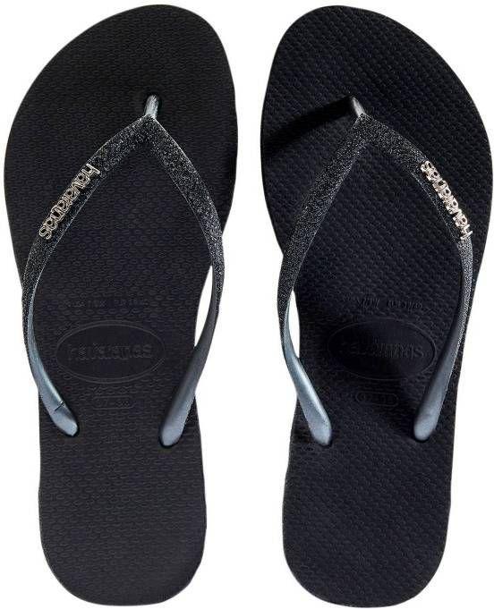 Havaianas Slippers Flipflops Slim Sparkle Zwart online kopen