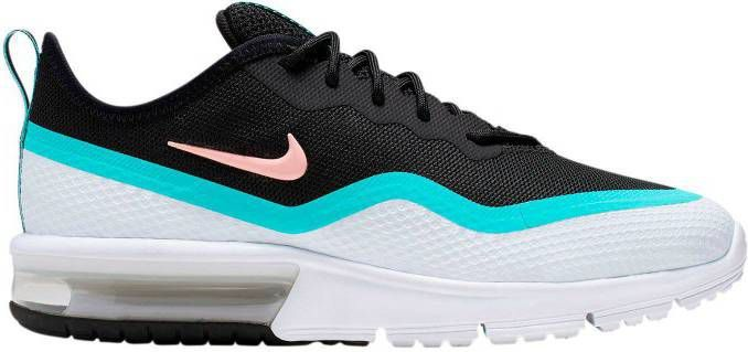 Nike Air Max Sequent 4.5 sneakers zwartlichtblauwwit