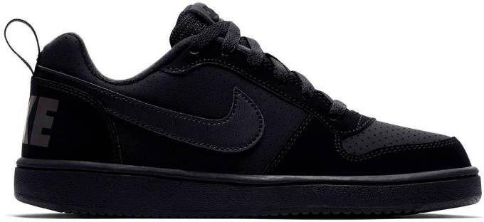 NIKE Court borough low sneakers zwart kinderen