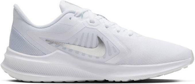 Nike Downshifter 10 Dames White/Silver Dames online kopen