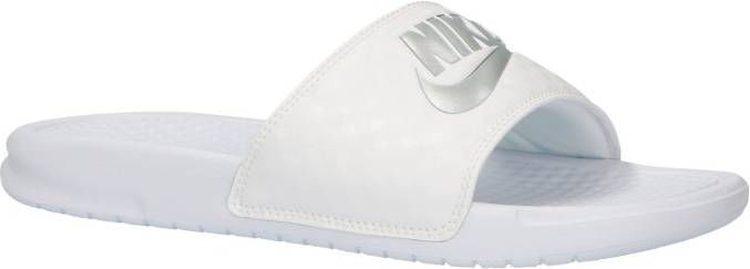 92c566c3267 Nike Benassi Just Do It Slides Dames Wit Dames - Frontrunner.nl