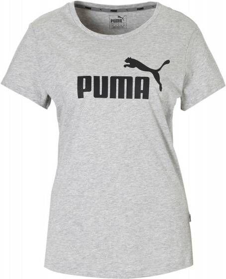 Puma Dames T shirt Essential logo Puma 100 voor gym en stretching