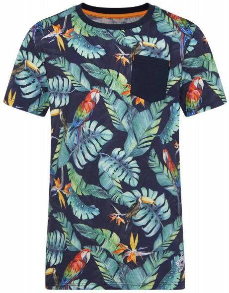 WE Fashion T-shirt met bladprint multi online kopen